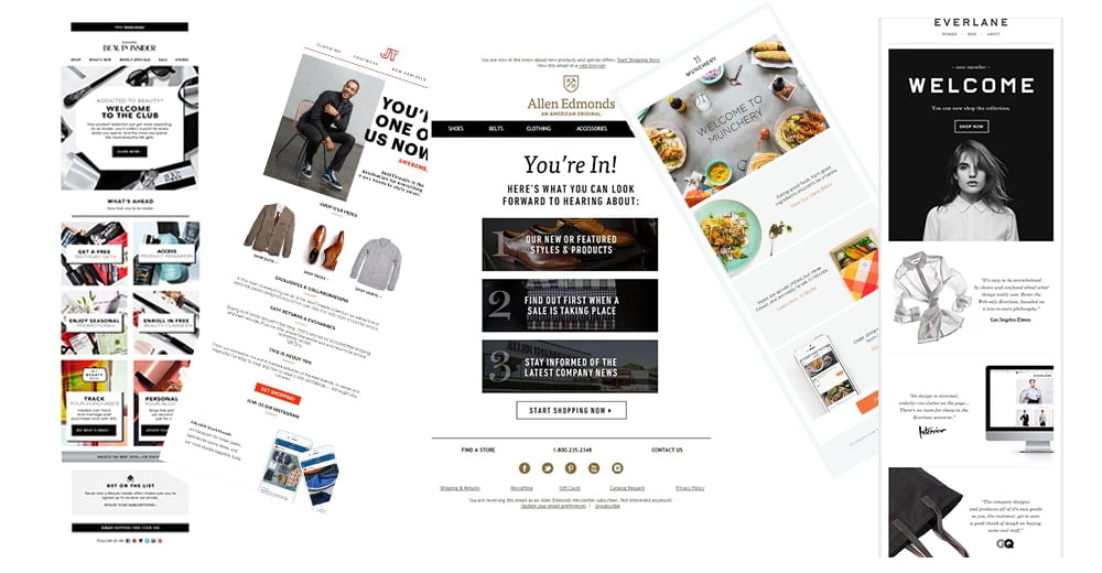welcome email designs