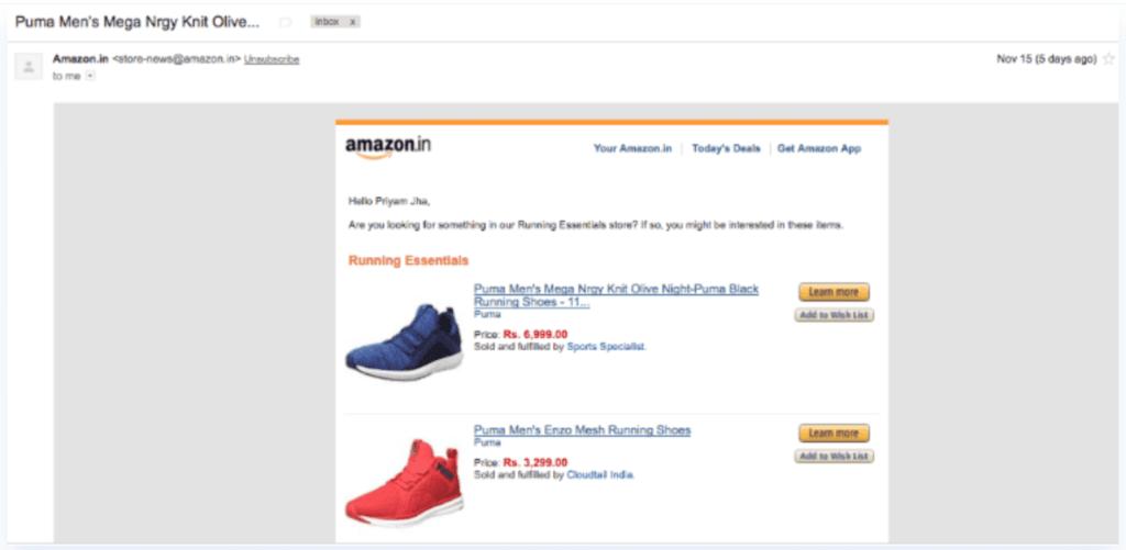 Amazon hyper-personalisering