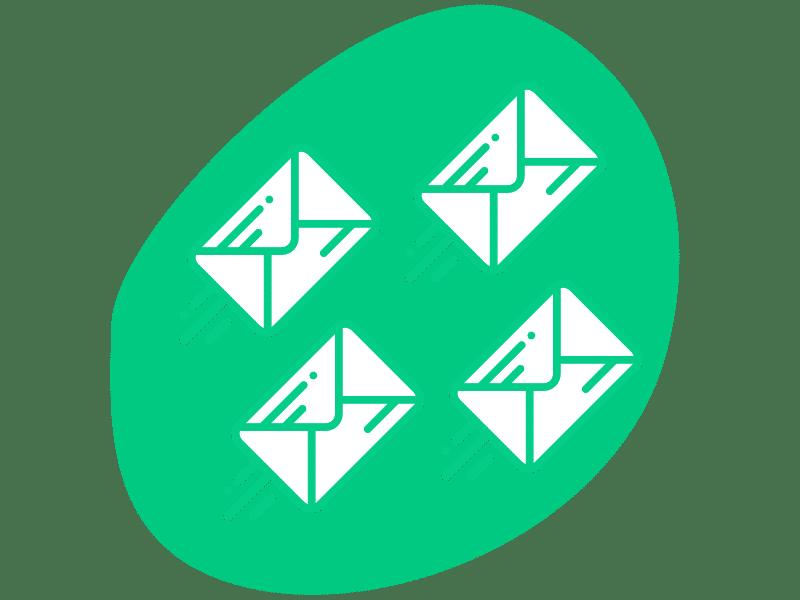 skicka flera mail