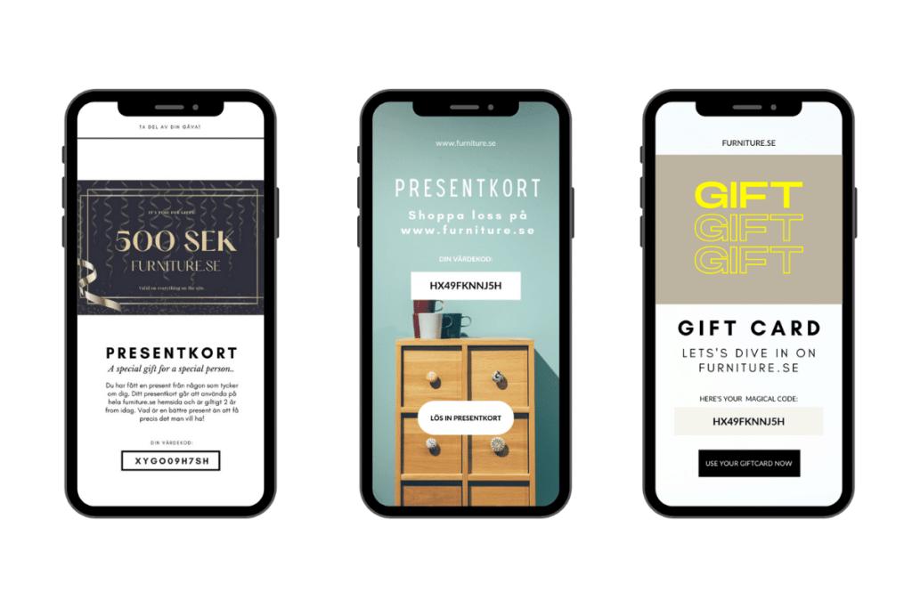digitala presentkort marketing automation