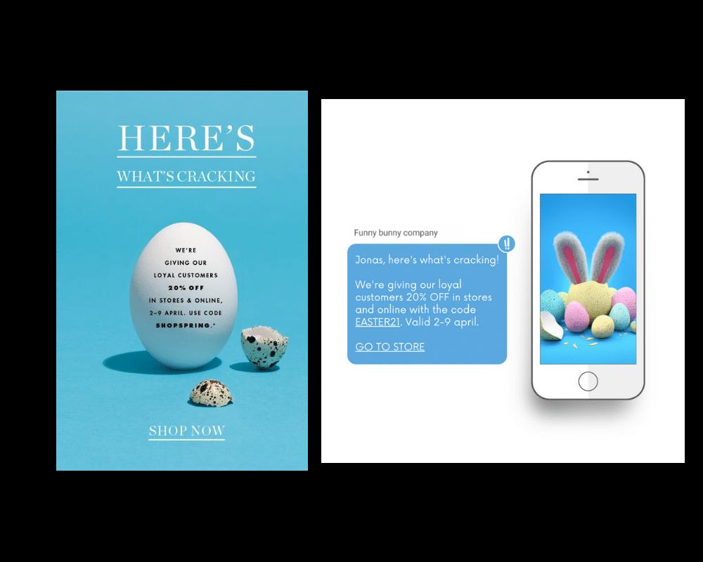 marknadsföringstips inför påsken - sms email